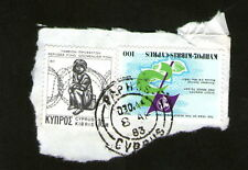 """POSTAGE STAMPS x2 : CYPRUS - """" THE YEAR OF THE SCOUT """" ; """" REFUGEE FUND """""""