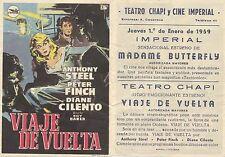 Programa de CINE. Título película: VIAJE DE VUELTA.