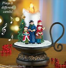 Lighted 8-Song Musical Holiday Christmas Carolers Choir Candle Tabletop Decor