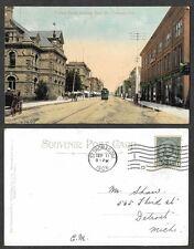 1908 Canada Postcard - St. Thomas, Ontario - Talbot Street Scene Looking East