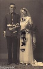 WW1 Guardsman Coldstream Guards full dress with Bride on Wedding Day