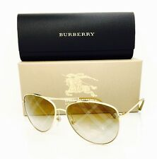 NEW Burberry Sunglasses BE 3072 1017 Gold Mirrored 57•14•135 With Case Authentic