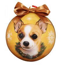 Tan Chihuahua Christmas Ball Ornament