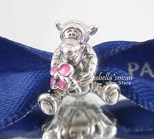Disney TIGGER Authentic PANDORA Silver/ENAMEL Charm/Bead NEW!