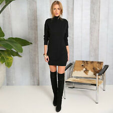 Sexy Women Ladies Ripped Long Jumper Dress Top Knitted Blouse Wooly Sweater Size