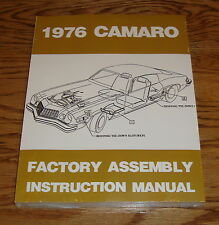 1976 Chevrolet Camaro Factory Assembly Instruction Manual 76 Chevy