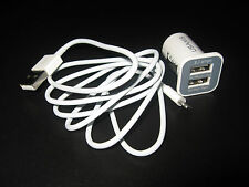 2 IN 1 iPHONE CAR CHARGER + USB DATA CABLE CHARGE FOR 5 5C 5S 6 6sPlus 7&7 Plus