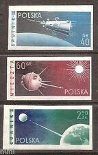 POLONIA Poland yv # 992/994 ** MNH sin dentar / imperfored Space / Asrofilatelia