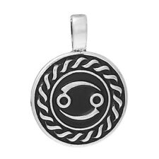 Round Constellation Cancer Zodiac Sign Charm Pendant for Necklace