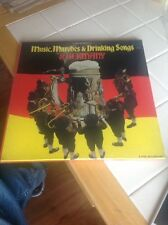 """""""Music, Marches and Drinking Songs of Germany"""" 5-Vinyl LP Box-Set Sealed Record"""