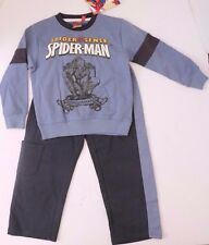 Marvel Comics Spider-Man Kids Boys Bluish Grey Track Suit Set 5A 110cm