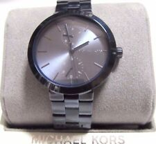Michael Kors Woman's Garner 39mm Ion Plated Watch Blue Metallic MK6415 NWT $225