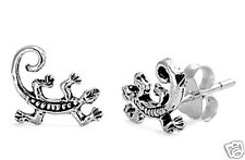 Lizard Stud Earrings Sterling Silver 925 Chic Tiny Reptile Jewelry Gift