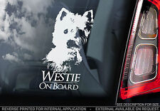 Westie - Car Window Sticker - West Highland White Terrier Dog On Board Sign TYP1