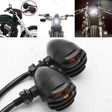 MOTORCYCLE BLACK GRILL TURN SIGNAL AMBER LIGHTS FOR Royal Enfield Classic 350