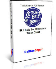 Southern Pacific Cotton Belt System Track Chart 1982 - PDF on CD - RailfanDepot