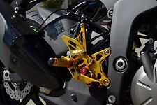 2009-2016 ZX6R GOLD Hotbodies MGP Adjustable Rear Sets 2012 2013 2014 Kawasaki