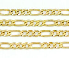 "14k Yellow Gold Figaro Chain Necklace 16""(new,6.25g)#2476a"