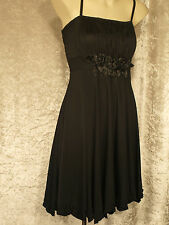 Little Black Dress with Roses on Bodice Formal Teenage Leavers Party Frock