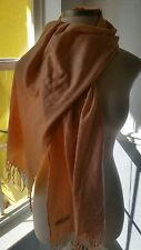 100% Cashmere Spring/Fall  Pashmina Scarf Solid Salmon 70 x 27 inch