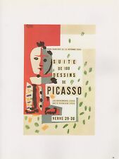 "1989 VINTAGE ""SUITE DE 180 DESSINS"" PICASSO MOURLOT Color offset Lithograph"