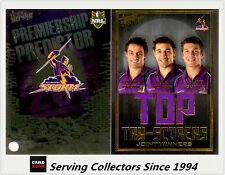 2011 NRL Strike Top Tryscorer TS7 Cronk / Duffie (Storm) + Predictor Card