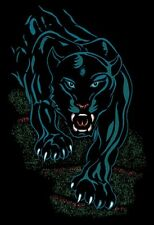 "Black Panther Jaguar Area Rug 4x6 African Animal Carpet - Actual 3' 7"" x 5' 3"""
