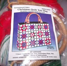 Design Works Beautiful CHRISTMAS QUILT TOTE PURSE Plastic Canvas KIT