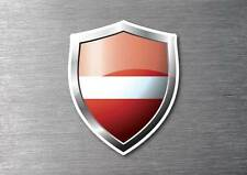 Latvia flag shield sticker 3d effect quality 7 year water & fade proof