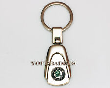 New Chrome Metal Skoda key chain keyring Fabia Roomster