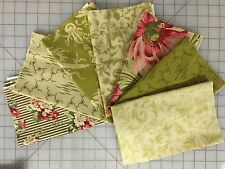 OOP Robyn Pandolph Chateau Rococo Fabric Fat Quarter Bundle in Green
