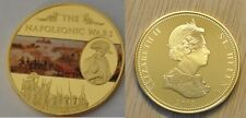 St.Helena 2013 Large Goldplated Color 25 Pence-Napoleon Battles-Egypt Pyramids