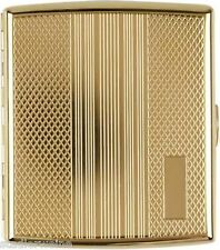 Portasigarette Metallo/Stripes - rombo/Gold/2seitig/Campo incisione/20 Kingsize