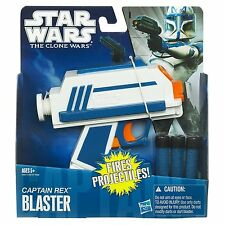Star Wars The Clone Wars Captain Rex Dart Blaster Gun Age 5+ New Toy Hasbro