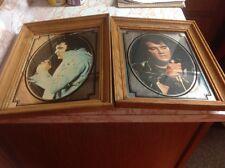 Two Vintage Elvis Presley 14/12 X11/12 Wood Frame Portraits /Glass Cover