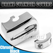 Chrome BRAKE MASTER CYLINDER COVER FOR Yamaha V-Star 650 1100 99 (Fits: V Star )