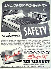 1948 'WINDAK' Safety Electric Bed Blanket Advert - Small Print Ad Vintage