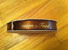 Large spool PASSION FOR FOOD Ribbon FOODIE Foodies GOLD Decorating Decorate GIFT