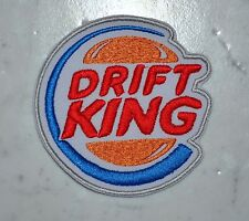 King of Drift IRON ON PATCH Aufnäher Parche brodé patche toppa JDM Tuning
