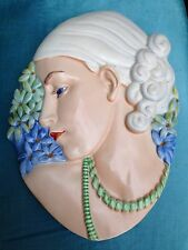 Beswick Art Deco Lady Wall Mask Original Number 436 1930s The Hyacinth Girl VGC!