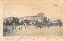 8947) LUGO RAVENNA CASTELLO FACCIATA DI SETTENTRIONE VG NEL 1900.