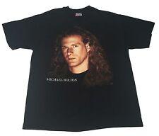 Vintage 1993 New (L) MICHAEL BOLTON TImeless Concert Tour Black Shirt Music Pop