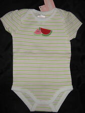 NWT Gymboree SUMMER PICNIC striped watermelon bodysuit one-pc top ~ girls 3 6 mo