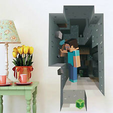 Minecraft Wall Sticker Decal Steve Creeper Removable Vinyl Decoration Picture