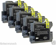 5 nel set XL per Brother Fax 1360 mfc-465c mfc240c MFC 3360c lc-1000bk