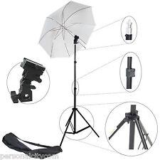 Studioset Studioblitz 968 Blitzhalter Halter+Stativ+Schirm für Blitzgerät Blitz