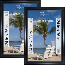 Mainstays 24x36 Wide Black Poster and Picture Frame, Set of 2
