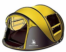 Gazelle Outdoors Camping Large Instant Pop Up Tent - Double Doors Two Windows