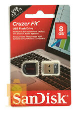 New box SanDisk Cruzer Fit CZ33 8GB Mini Nano USB Flash Pen Drive Memory