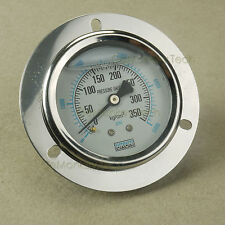 "2-1/2"" Oil Filled Pressure Gauge 1/4"" NPT Panel Mount 0-350KG 0-5000PSI"